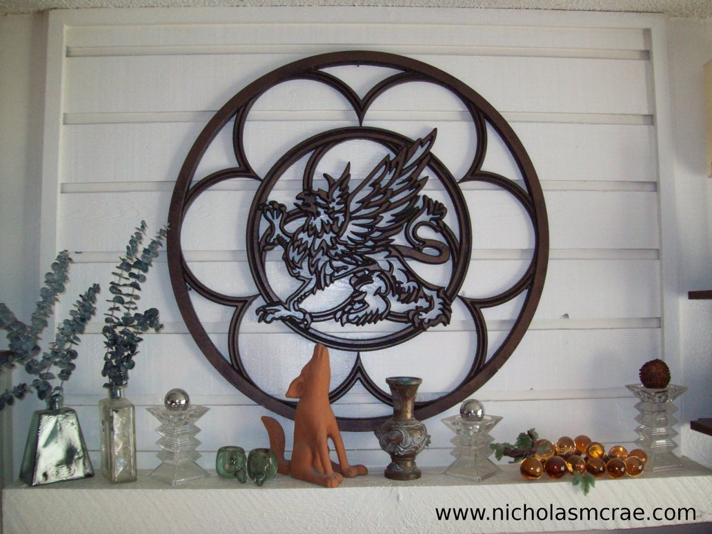 Fretwork Gryphon – Customizable Wall Artnicholasmcrae On Pertaining To Latest Fretwork Wall Art (View 6 of 25)