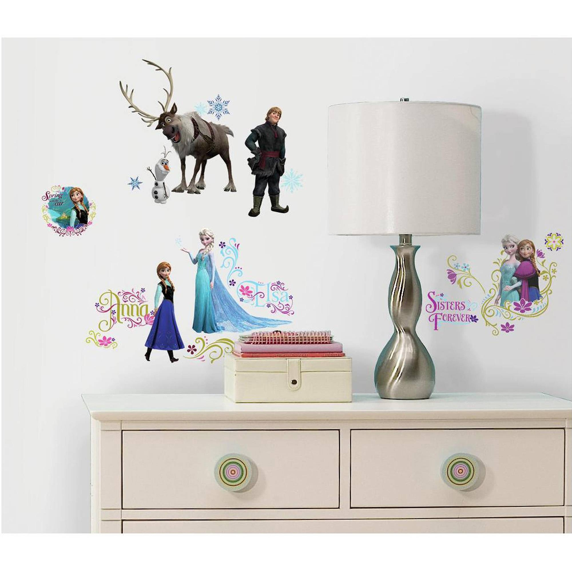 Frozen Peel And Stick Wall Decals – Walmart Intended For Latest 3d Wall Art Walmart (View 8 of 20)