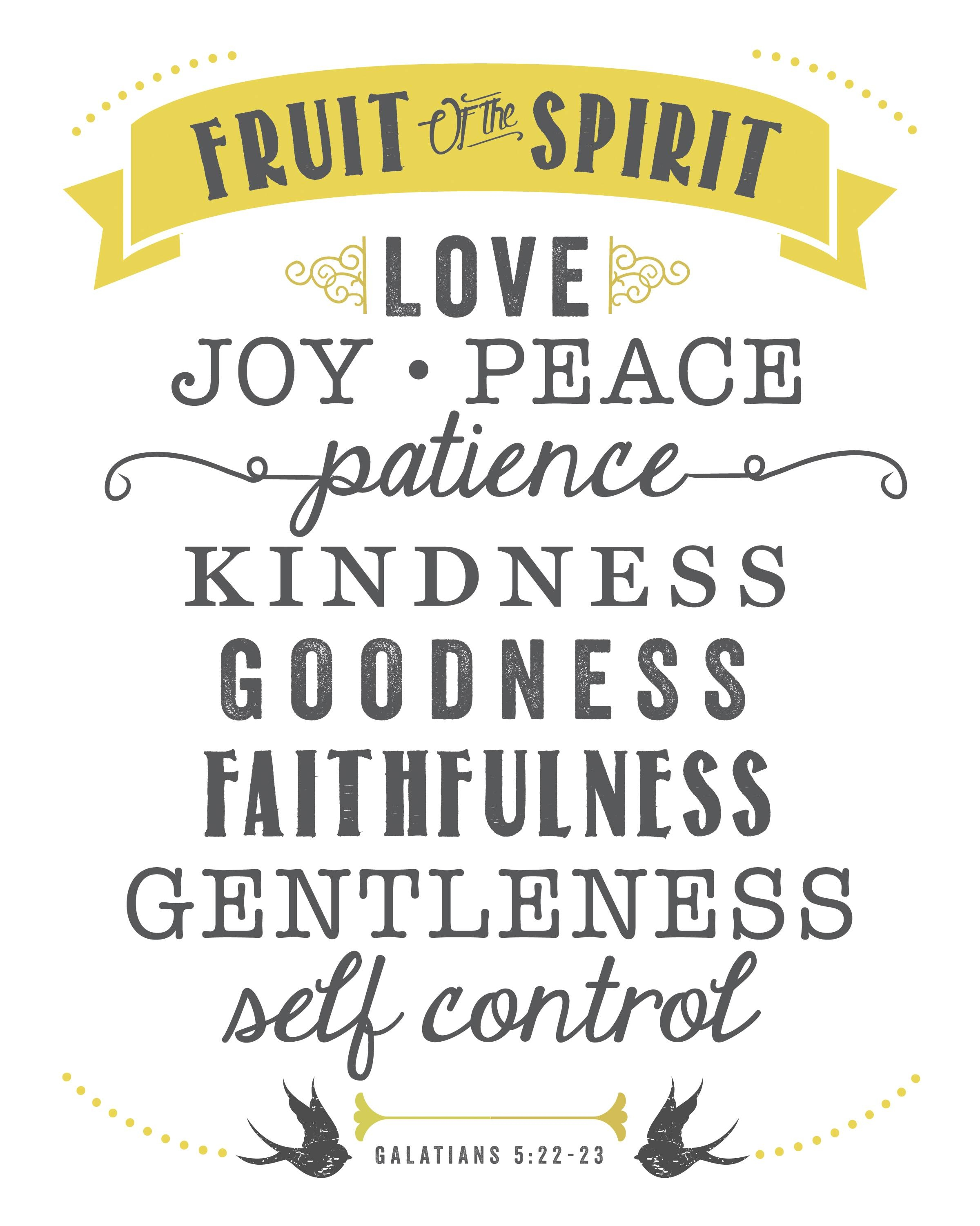 Fruit Of The Spirit   Free Printable   Sincerely, Sara D (View 12 of 30)