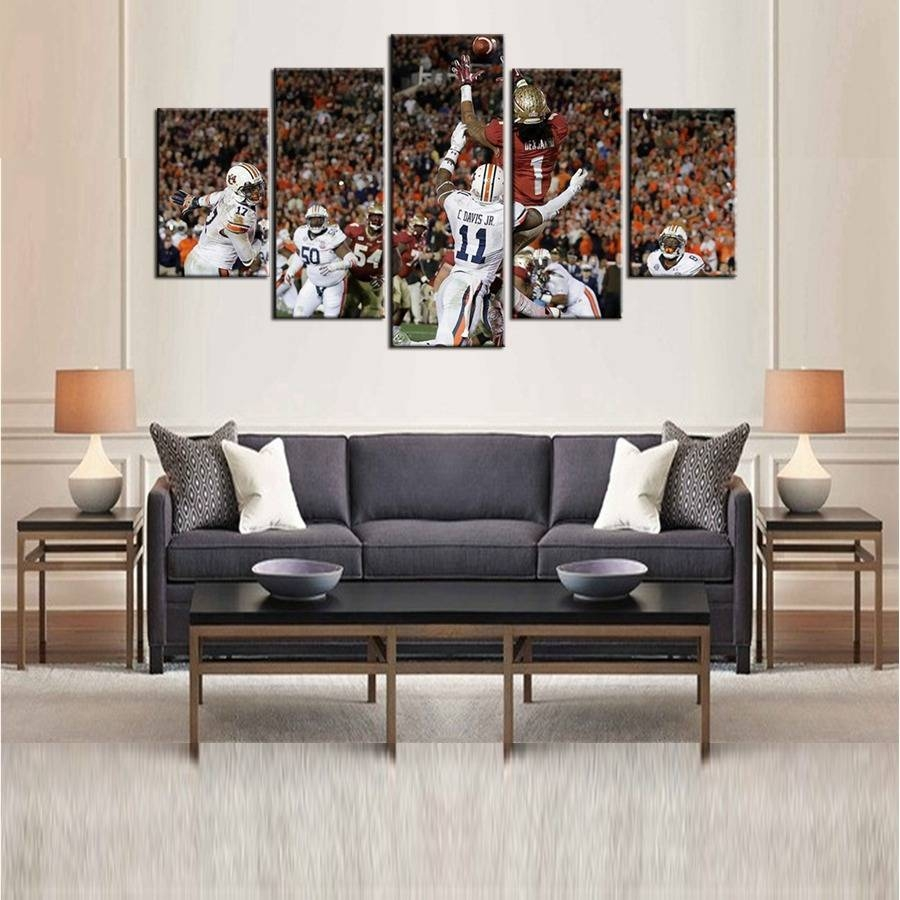 Fsu Seminoles American Football Sport Team Oil Painting On Canvas Regarding Most Current Football 3D Wall Art (View 17 of 20)