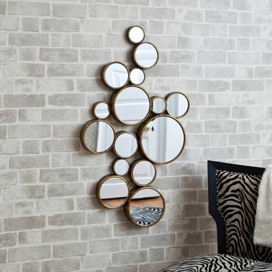 Funky' Circles Mirrordecorative Mirrors Online Within Latest Mirror Circles Wall Art (View 1 of 20)