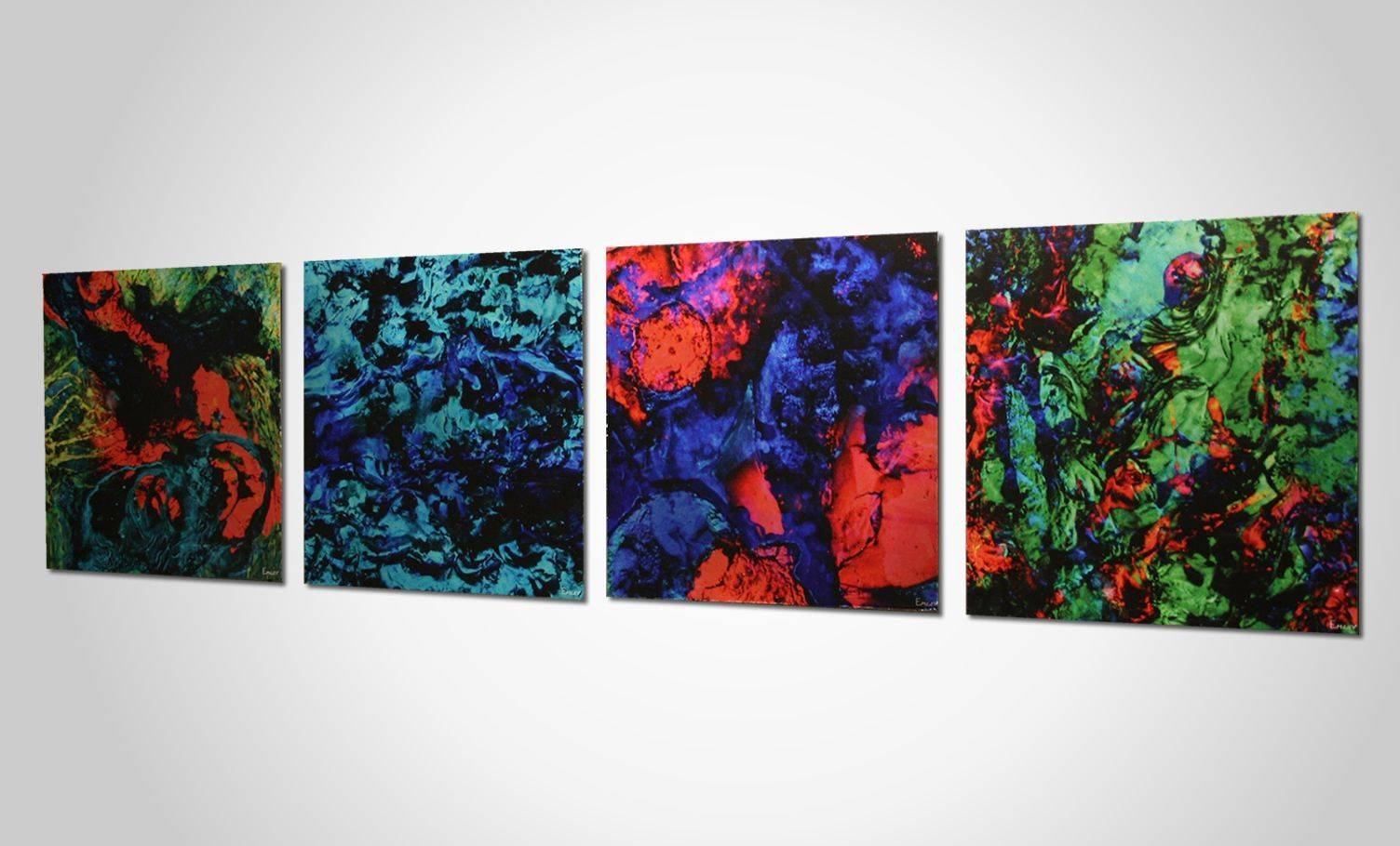 Funky Neon Colored Metal Wall Art (View 6 of 20)
