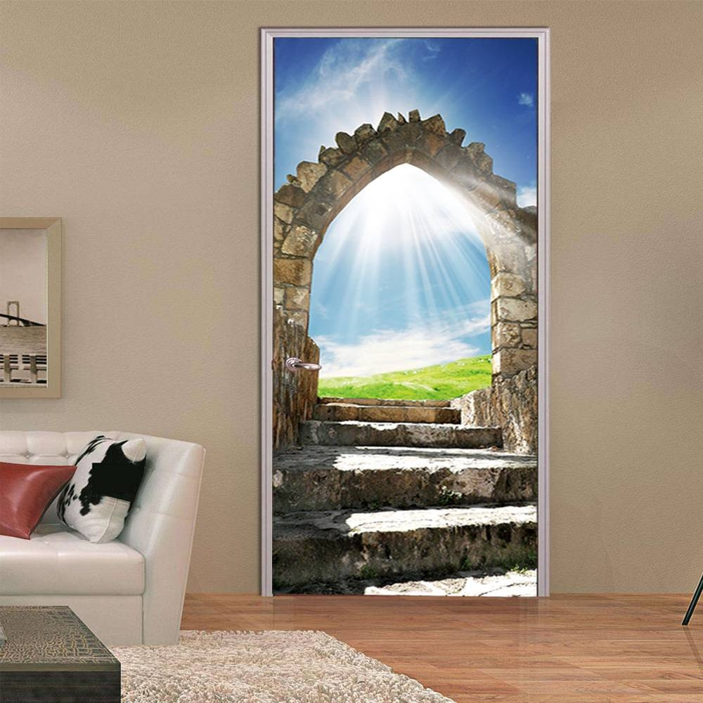 Funlife Stone Staircase Imitation 3D Wall Art Living Room Bedroom Inside 2017 3D Wall Art For Living Room (View 12 of 20)