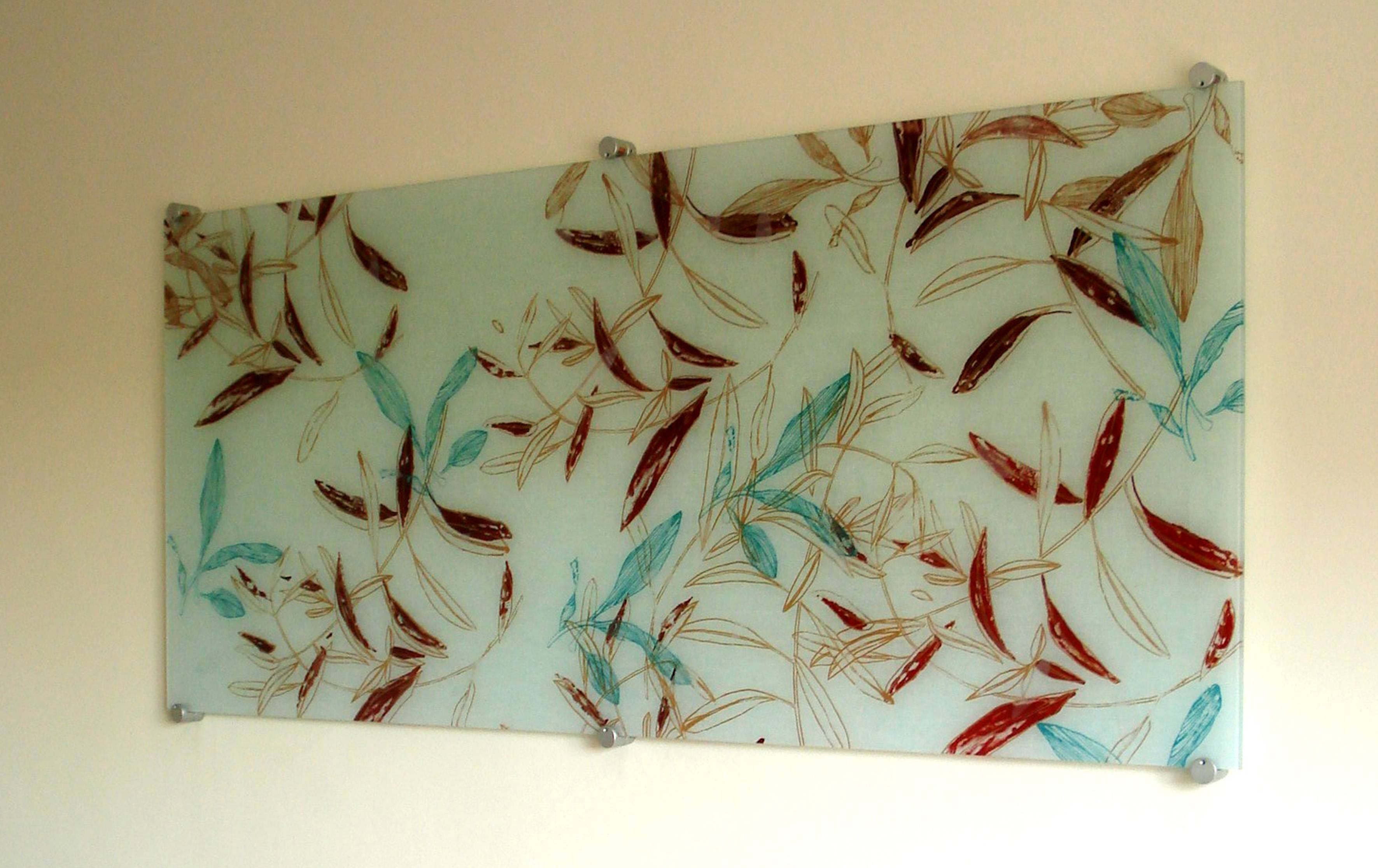 Fused Glass Textile Panels » Michèle Oberdieck – Printed Textile In Best And Newest Fused Glass Wall Art Panels (View 7 of 25)