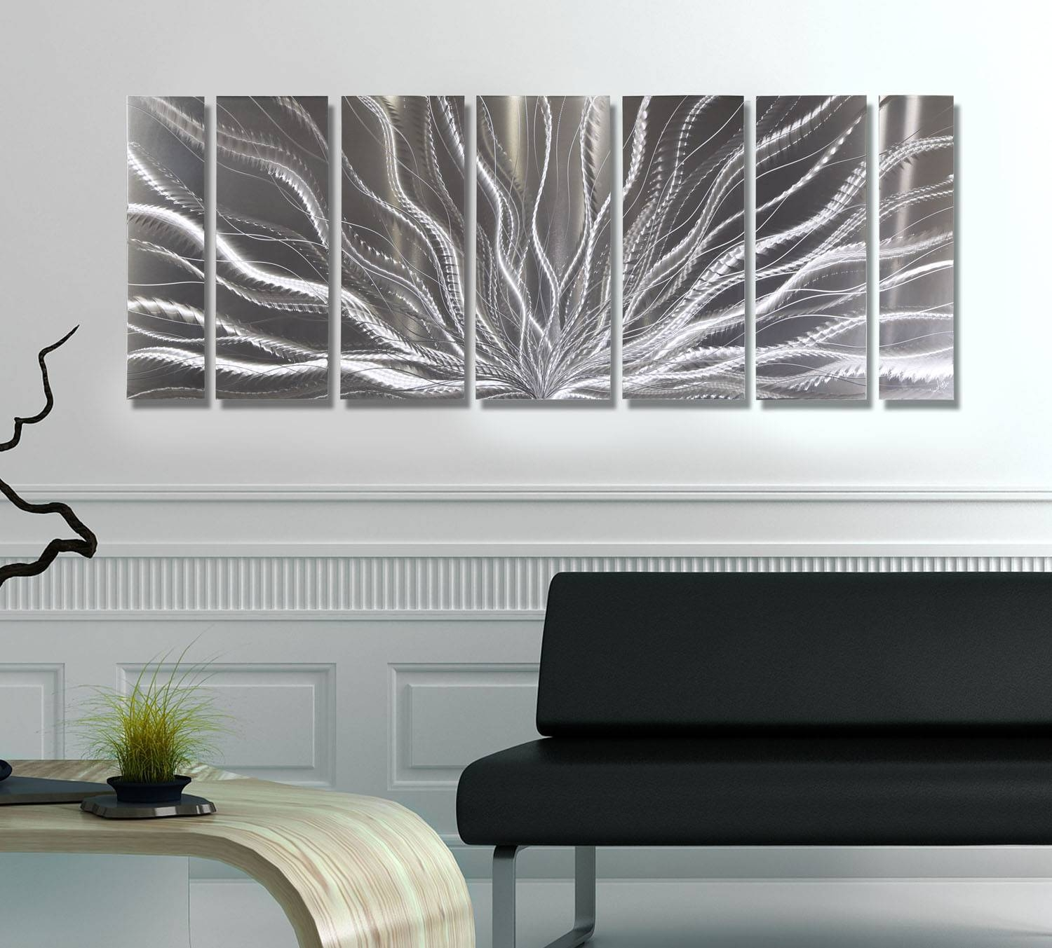 Galactic Expanse – All Natural Silver Metallic Wall Hanging For Best And Newest Modern Wall Art For Sale (Gallery 3 of 20)