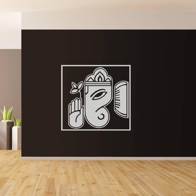 Ganesh Wall Art Giant Sticker Mural Graphic Wallart Hindu Elephant Throughout Newest Ganesh Wall Art (View 3 of 20)