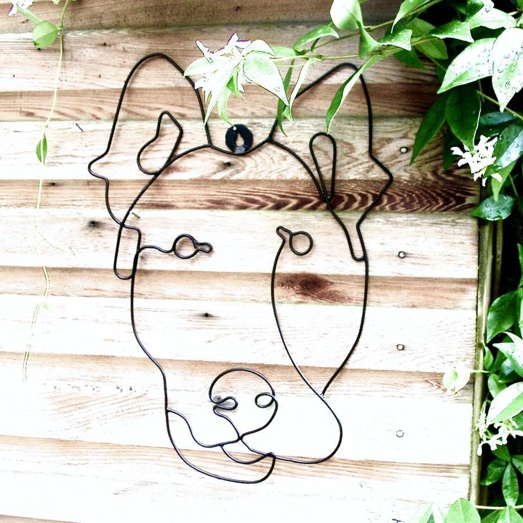 Garden Wall Art Or Topiary Frame Doglondon Garden Trading Intended For Current Topiary Wall Art (Gallery 20 of 30)