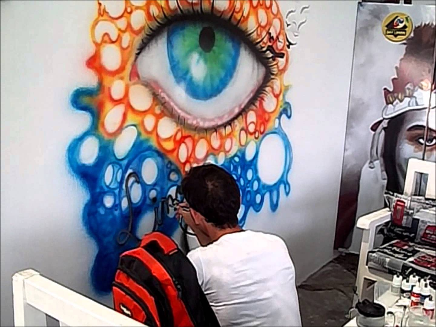 Gelibolu Do?an Dinç Airbrush Painting Eye Paint On Wall Mural Regarding Most Current Airbrush Wall Art (View 10 of 20)