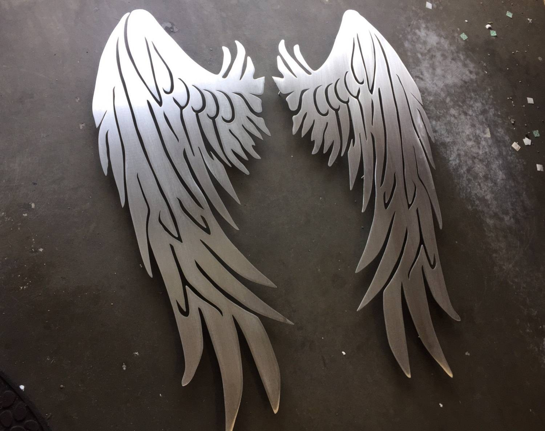 Giant Angel Wings Metal Wall Art Wings Metal Art Home Pertaining To Most Popular Angel Wings Wall Art (View 10 of 20)