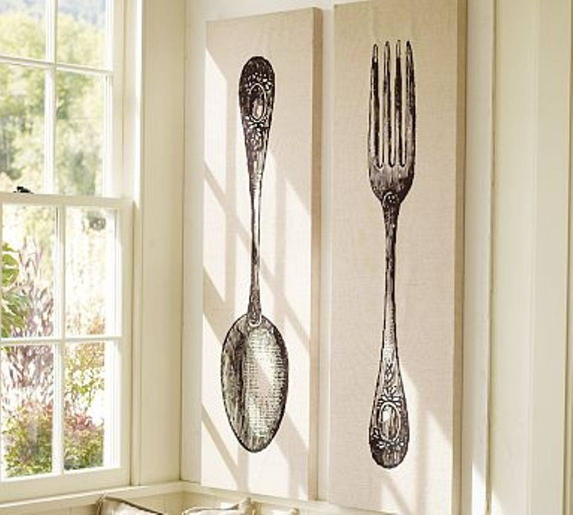 Giant Spoon And Fork Wall Decor Target : Giant Fork And Spoon Wall Regarding Newest Big Spoon And Fork Decors (View 12 of 25)