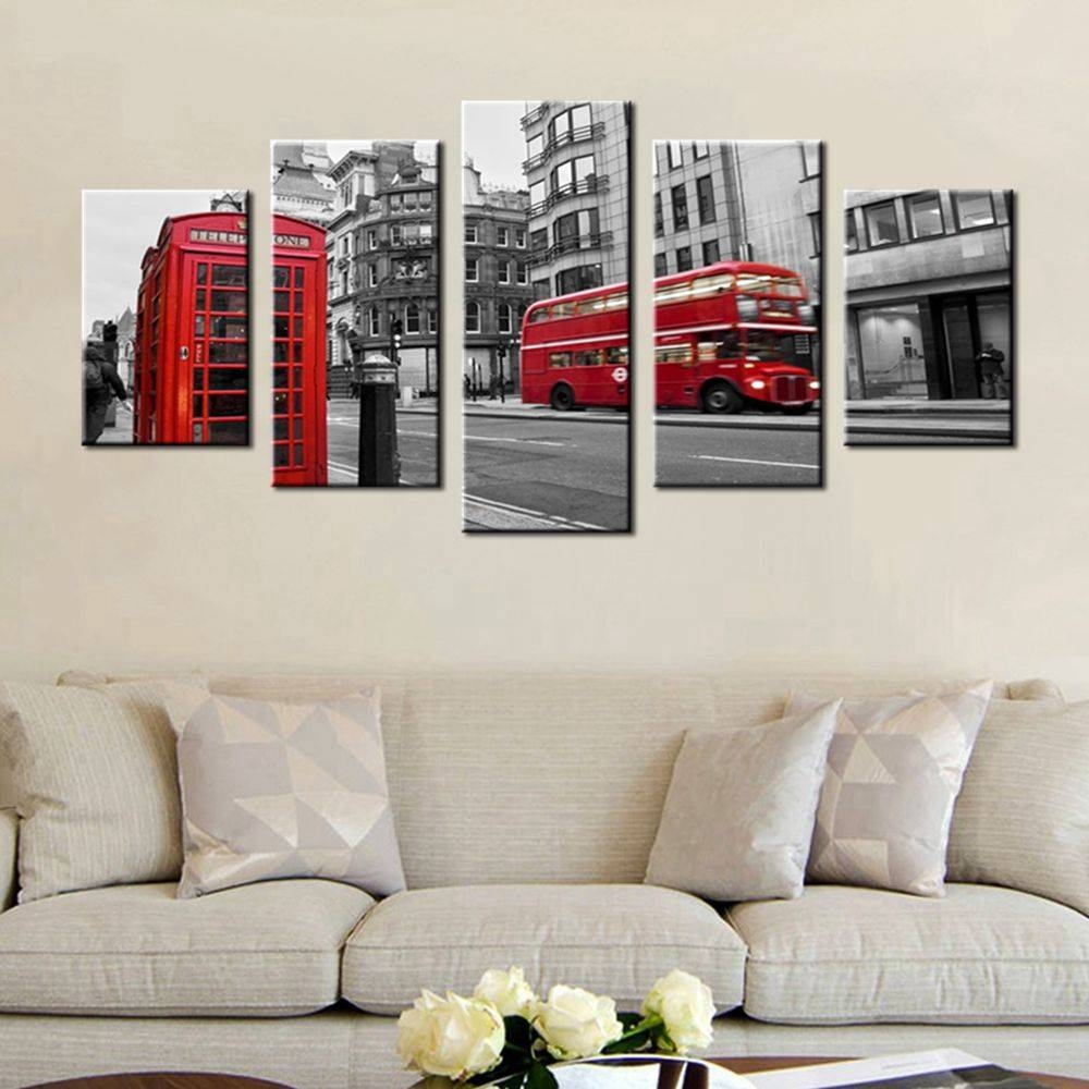 Gift Black & White Canvas Print Wall Art Painting Home Decor For Newest London Scene Wall Art (Gallery 16 of 20)