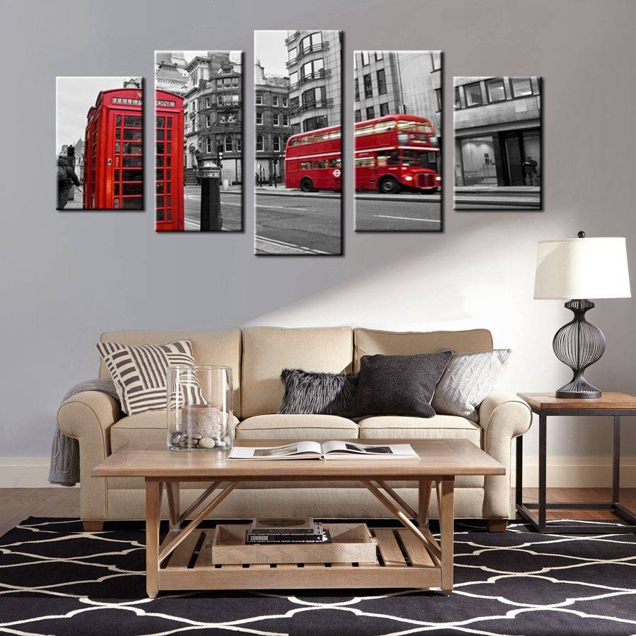 Gift Black & White Canvas Print Wall Art Painting Home Decor Within 2018 London Scene Wall Art (View 9 of 20)