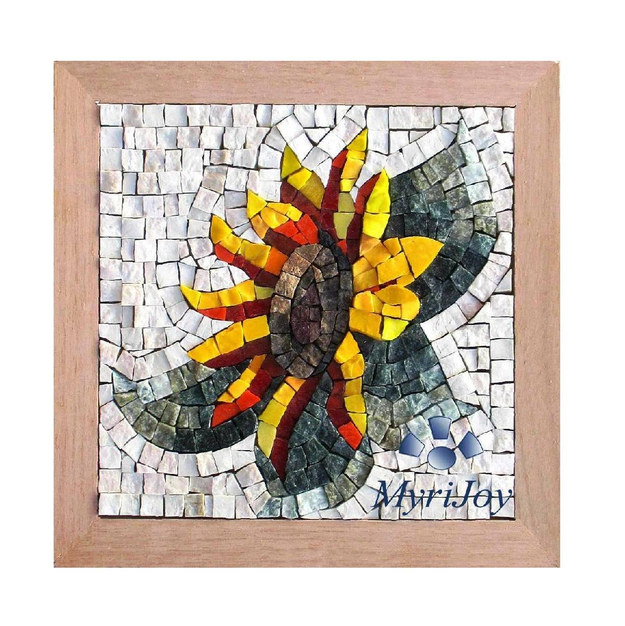 Gifts For Women Diy Mosaics Wall Art Sunflower – Marble & Stained For 2018 Mosaic Art Kits For Adults (View 15 of 20)