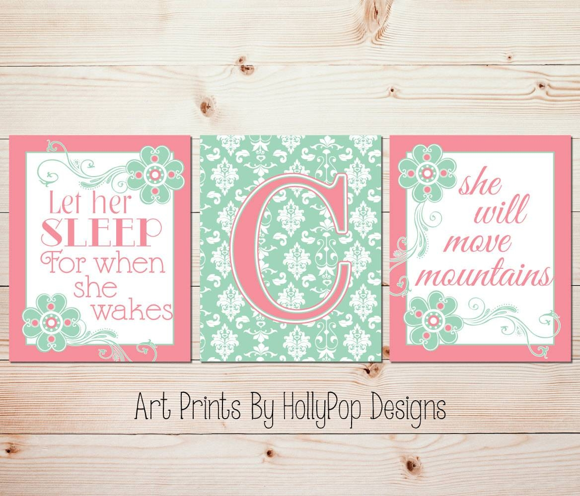 Girl Nursery Prints Let Her Sleep Girls Quotes Shakespeare Regarding Latest Shakespeare Wall Art (View 14 of 20)