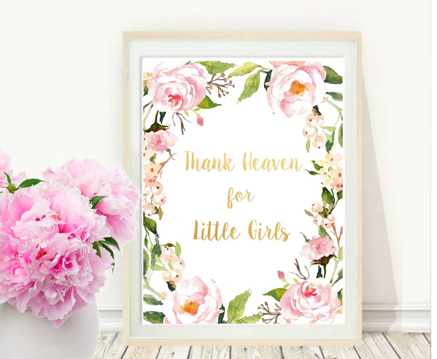 Girl Nursery Wall Art Thank Heaven For Little Girls Intended For Newest Little Girl Wall Art (Gallery 5 of 20)