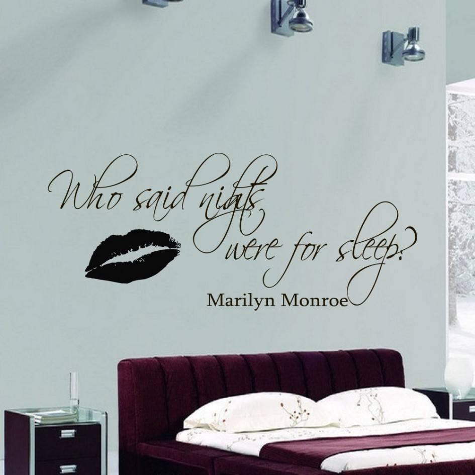 Girl Room Wall Sticker Marilyn Monroe Quote Decal Black Vinyl Art Intended For 2018 Marilyn Monroe Wall Art (Gallery 24 of 25)