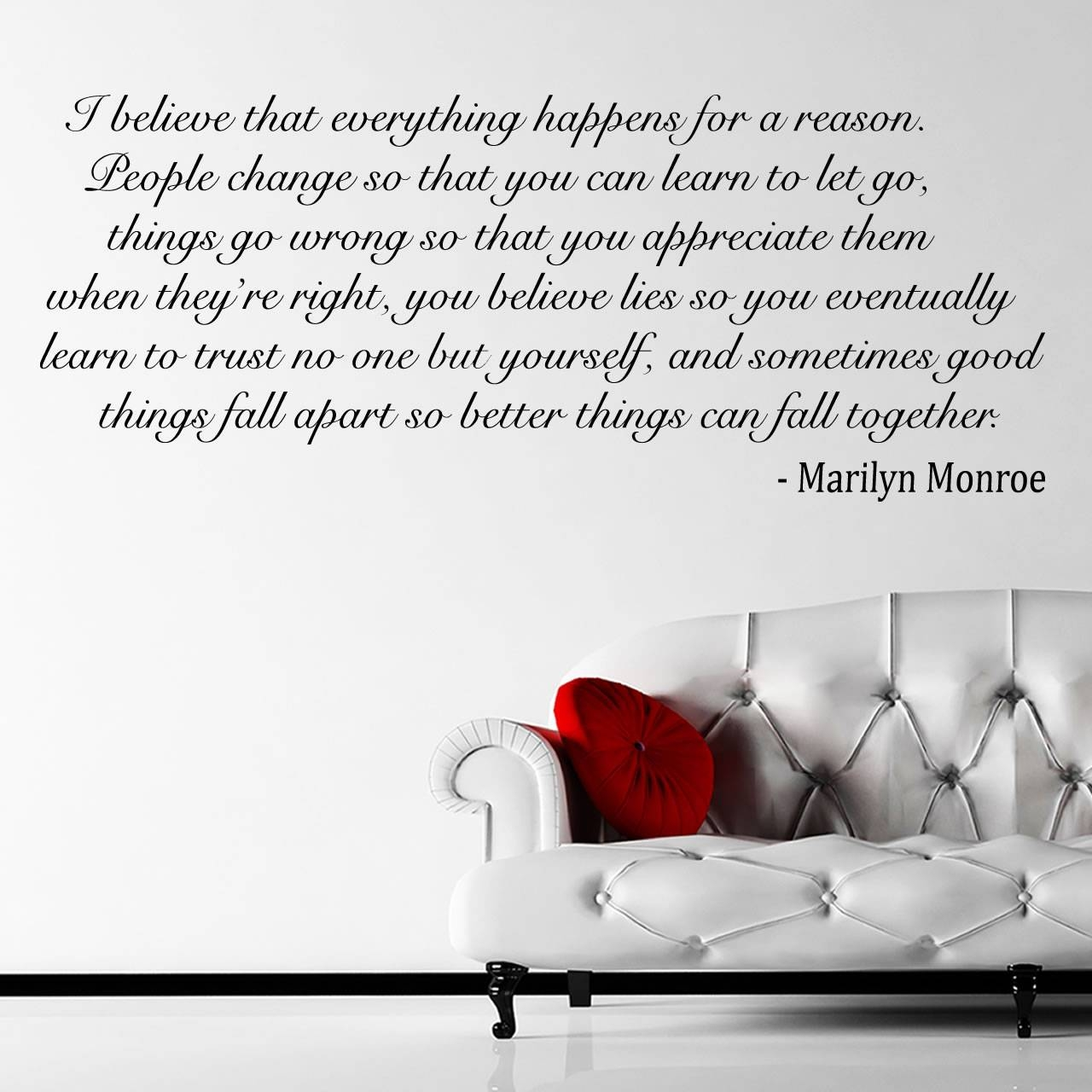 Girl Room Wall Sticker Marilyn Monroe Quote Decal Black Vinyl Art With Most Recently Released Marilyn Monroe Wall Art Quotes (View 6 of 25)