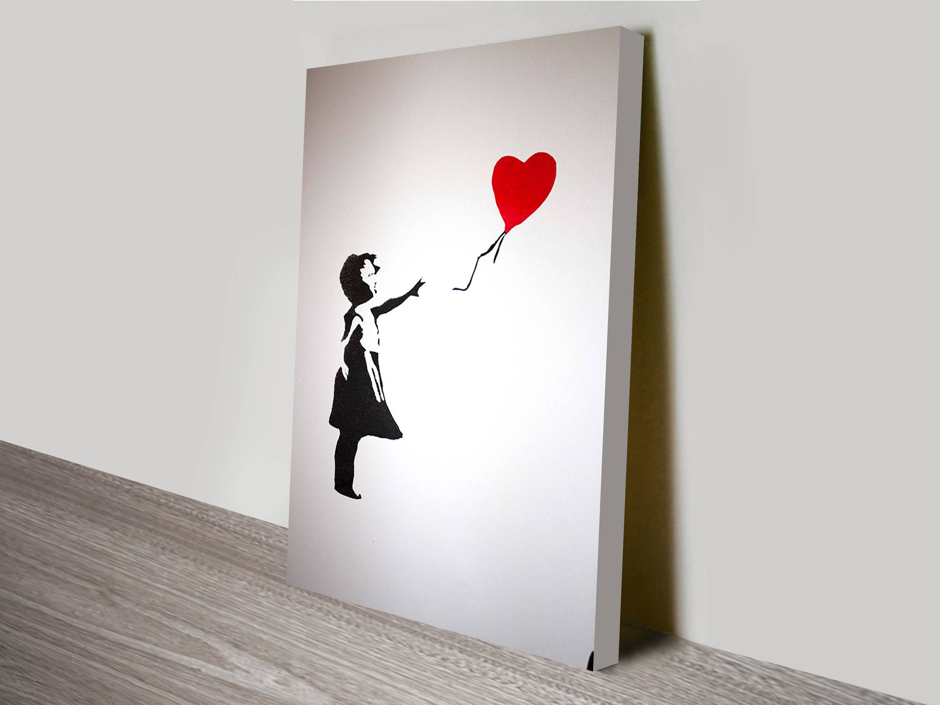 Girl With Heart Banksy Artwork On Canvas Within Recent Banksy Wall Art Canvas (View 15 of 20)