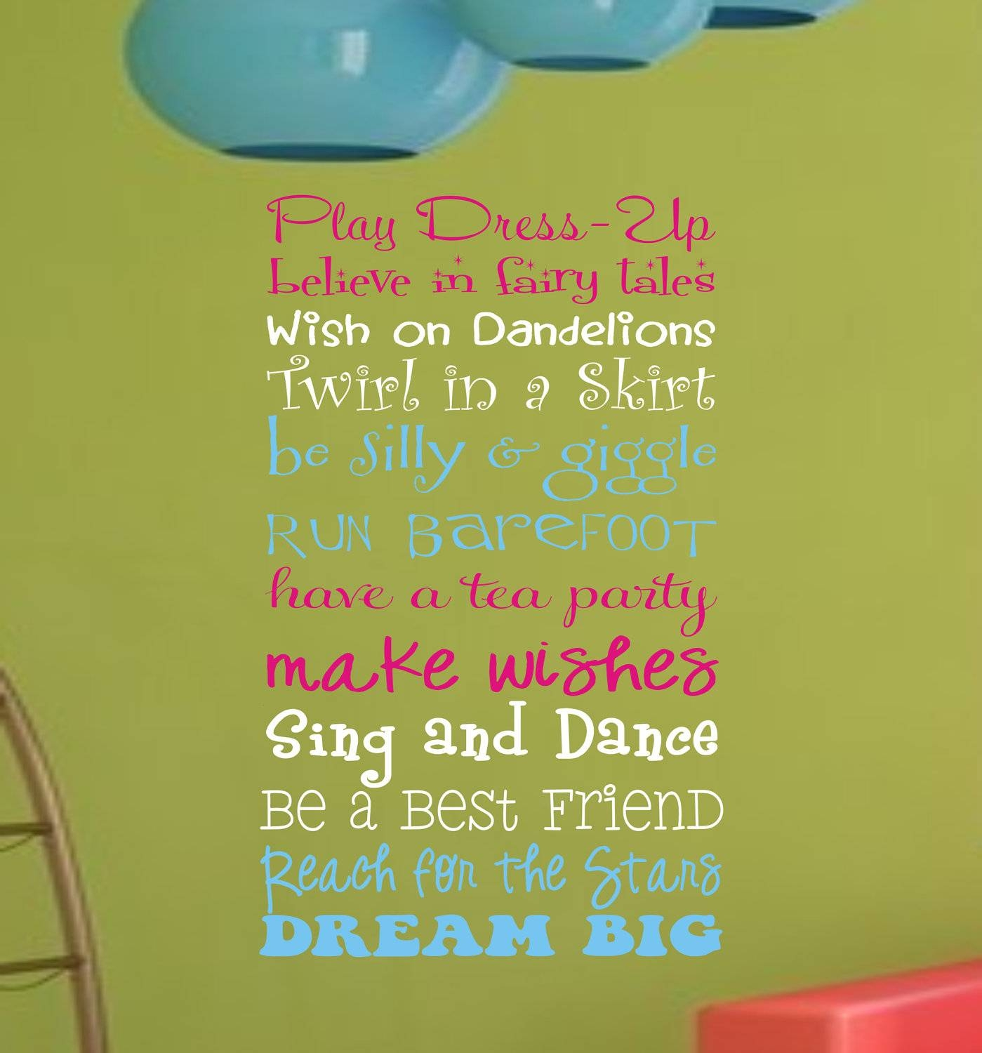 Girls Playroom Wall Decal Childrens Playroom Wall Art In Current Etsy Childrens Wall Art (View 11 of 20)