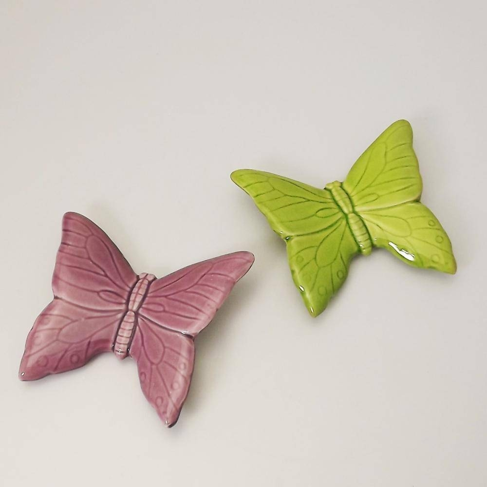 Gisela Graham – Gisela Graham – Ceramic Butterfly Wall Ornament With Most Recently Released Ceramic Butterfly Wall Art (Gallery 18 of 30)