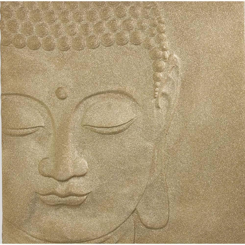 Glitterati Buddha 3D Wall Art Gold 60 X 60Cm At Wilko Within Most Popular 3D Buddha Wall Art (View 14 of 20)