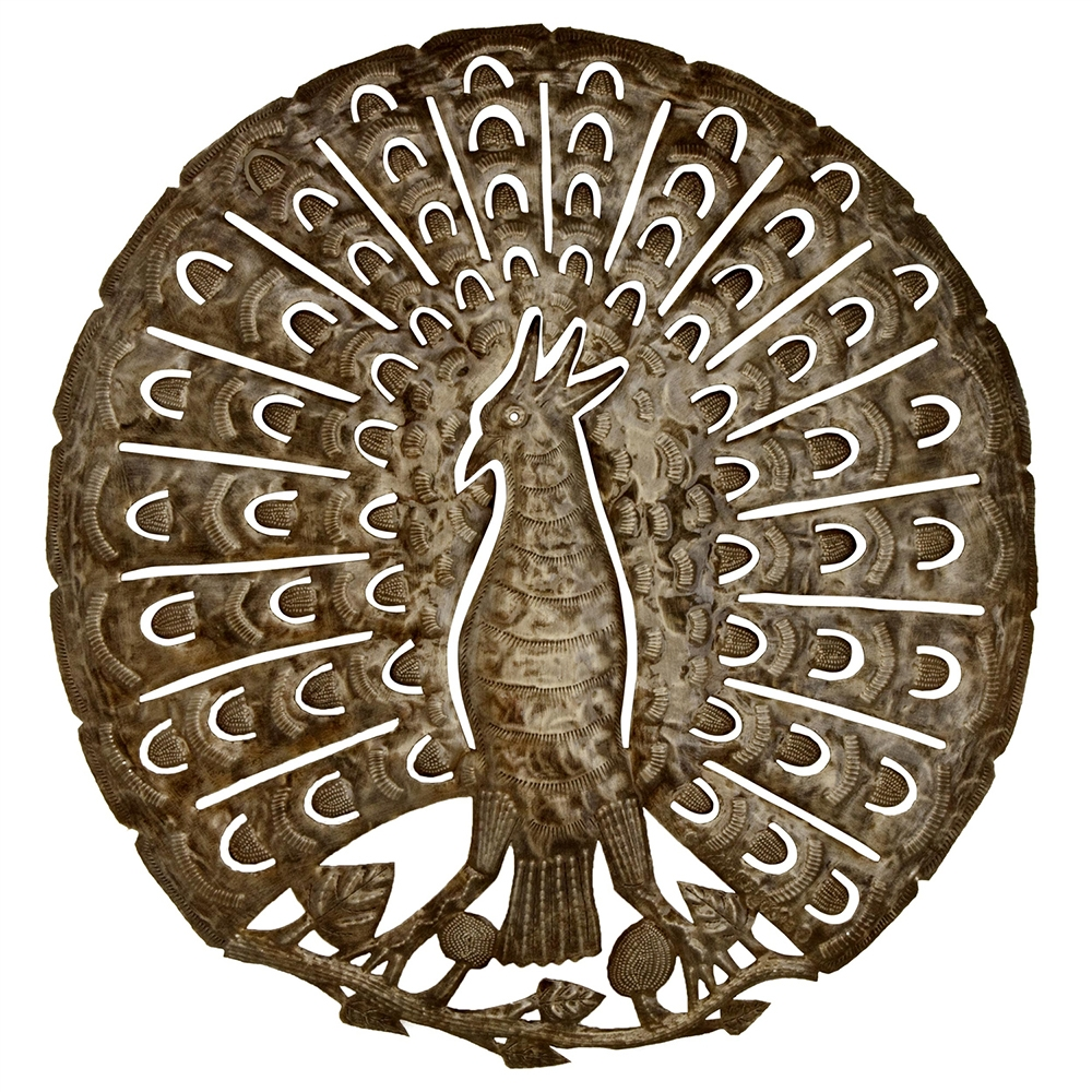 Glory Of The Peacock Metal Wall Art With Regard To 2017 Peacock Metal Wall Art (View 7 of 20)