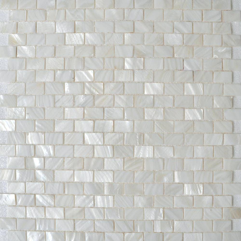Gold Microflex Mosaic Mirror Tile Sheet White Glass Kitchen In Most Up To Date Mother Of Pearl Wall Art (View 5 of 15)