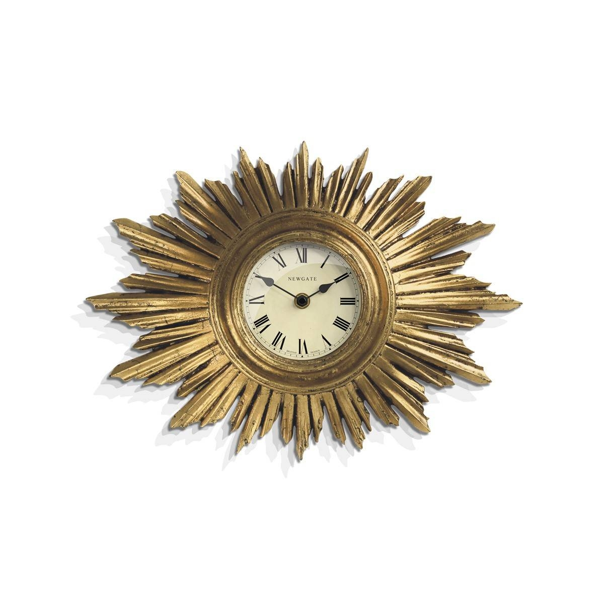Gold Sunburst Art Deco Wall Clock | Newgate Clocks | Sunburst With Most Up To Date Art Deco Wall Clocks (View 19 of 25)