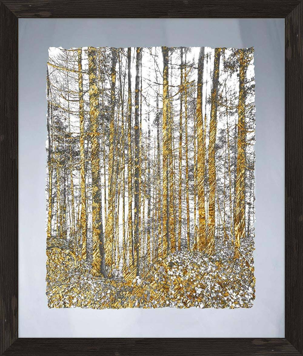 Gold Tree Glass Wall Art Framed – Ptmimages Within Newest Modern Glass Wall Art (View 15 of 20)