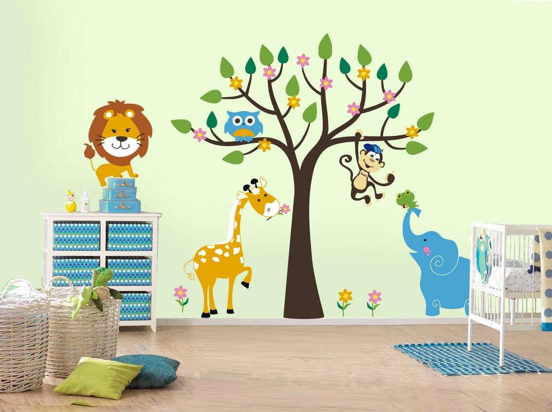 Good Children S Room Decorating Ideas Removable Wall Art 48 In With Regard To Most Recently Released Children Wall Art (Gallery 7 of 15)