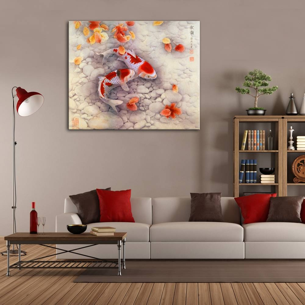 Good Symbol Of Future Carp Traditional Chinese Art Prints High In Latest Chinese Symbol Wall Art (View 12 of 30)