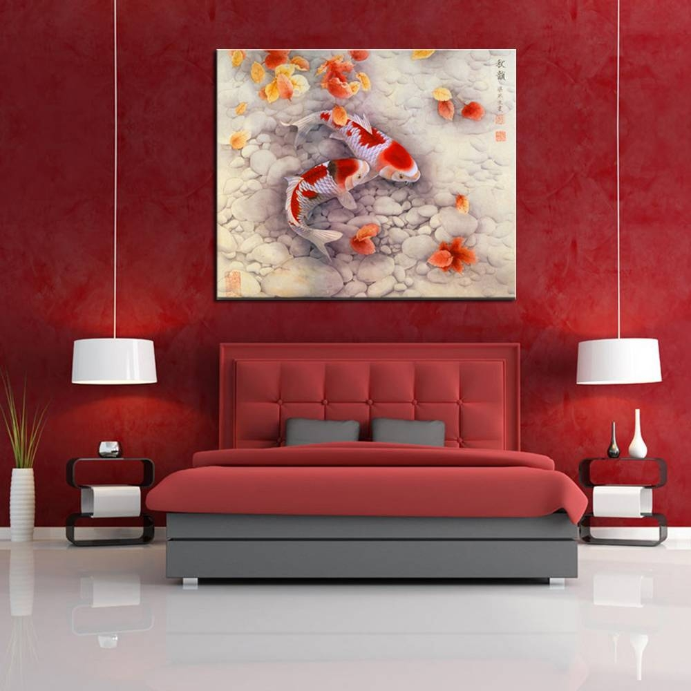 Good Symbol Of Future Carp Traditional Chinese Art Prints High With Recent Chinese Symbol Wall Art (View 17 of 30)