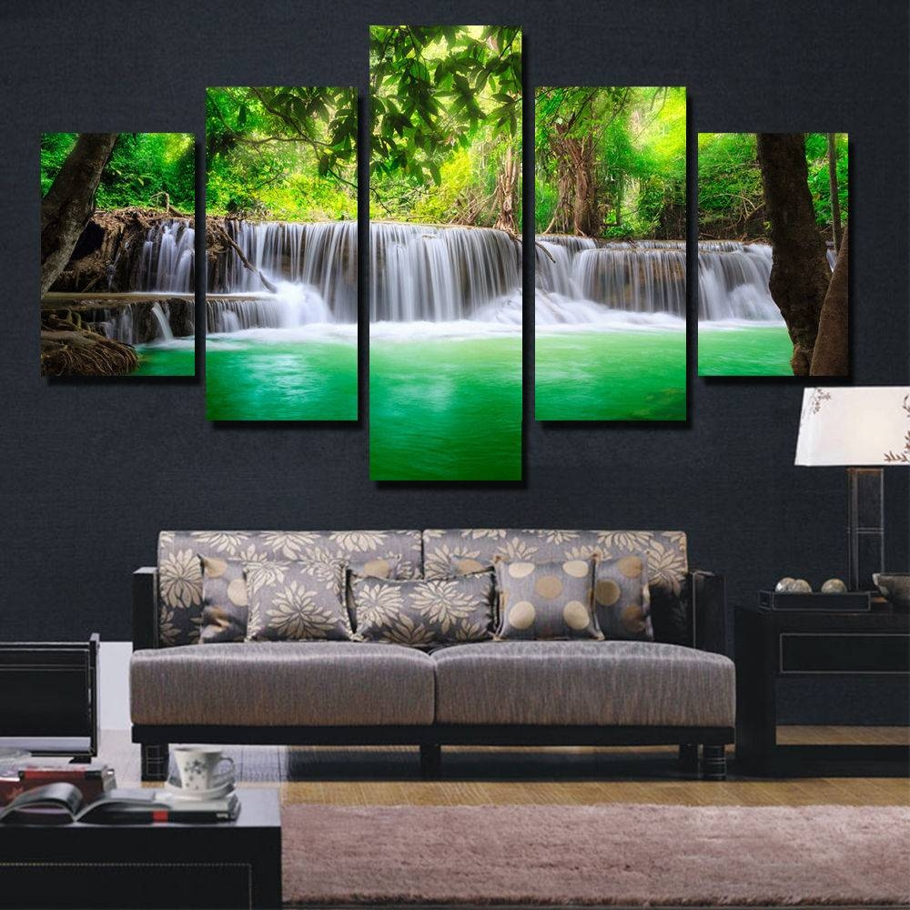 Gorgeous 40+ Waterfall Wall Art Decorating Design Of 2017 Canvas Pertaining To Latest Waterfall Wall Art (Gallery 15 of 20)