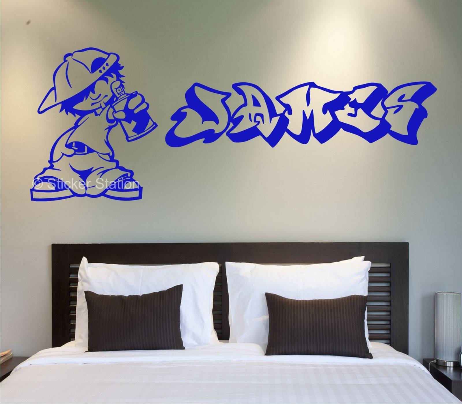 Graffiti Artist Personalised Wall Art Sticker – Sticker Station Throughout Most Popular Personalized Graffiti Wall Art (View 8 of 30)