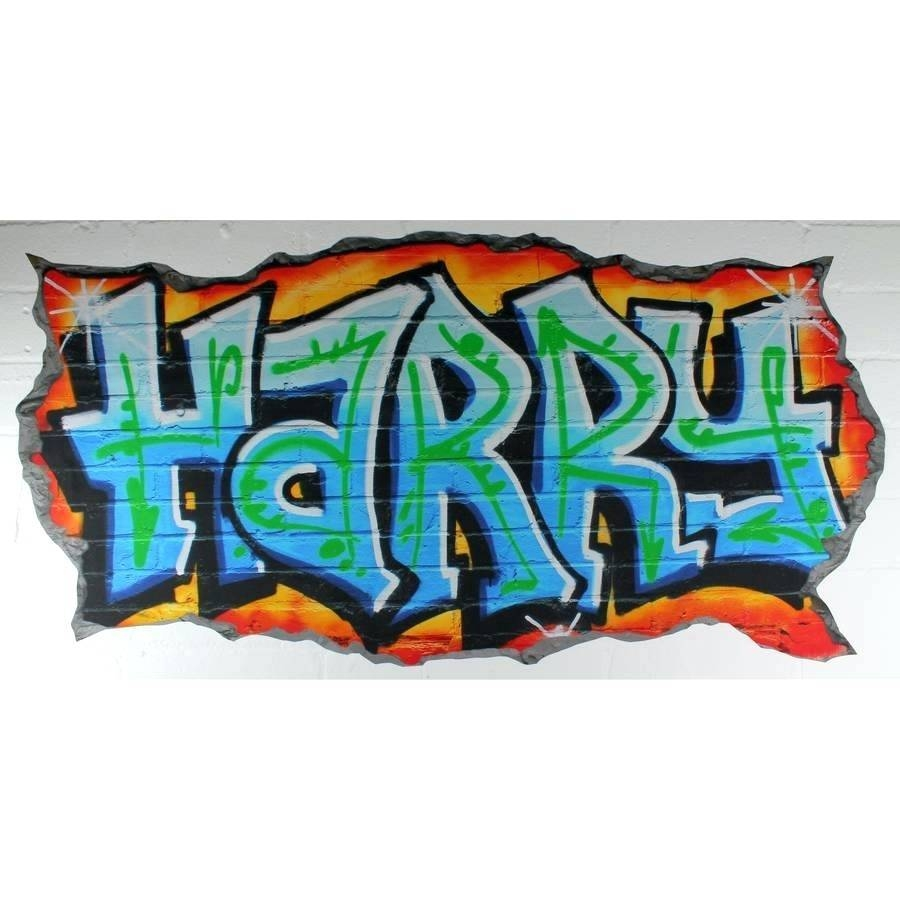 Graffiti Decals For Walls Personalised Graffiti Name Wall Decal With Regard To Latest Graffiti Wall Art Stickers (Gallery 17 of 30)
