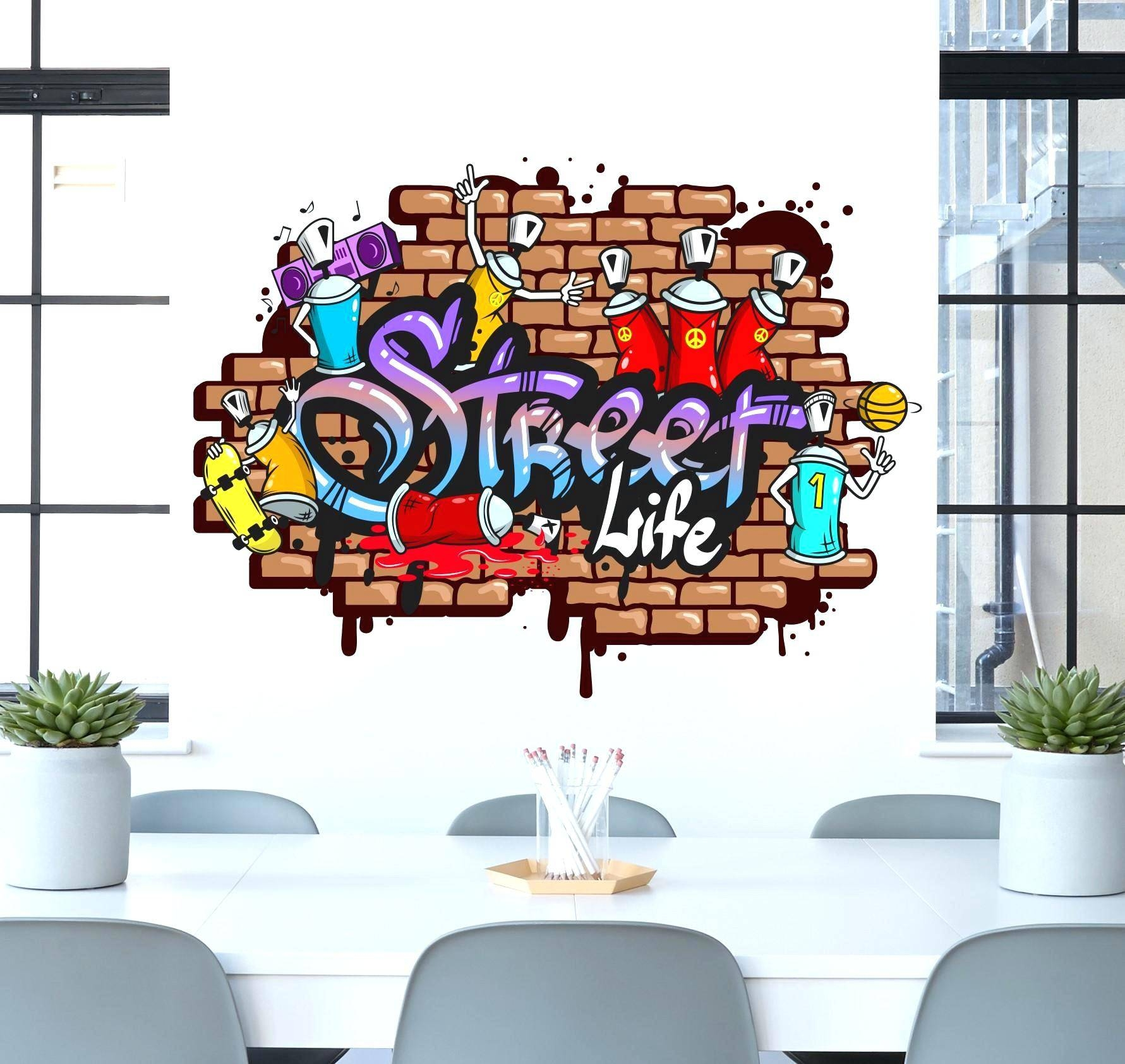 Graffiti Decals For Walls Personalised Graffiti Name Wall Decal Within Most Popular Graffiti Wall Art Stickers (Gallery 26 of 30)