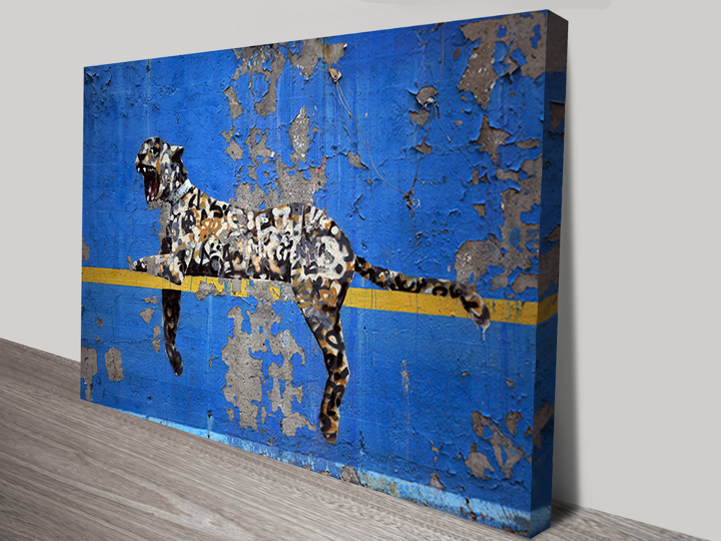 Graffiti Leopard Wall Art Print In Latest Banksy Wall Art Canvas (View 16 of 20)