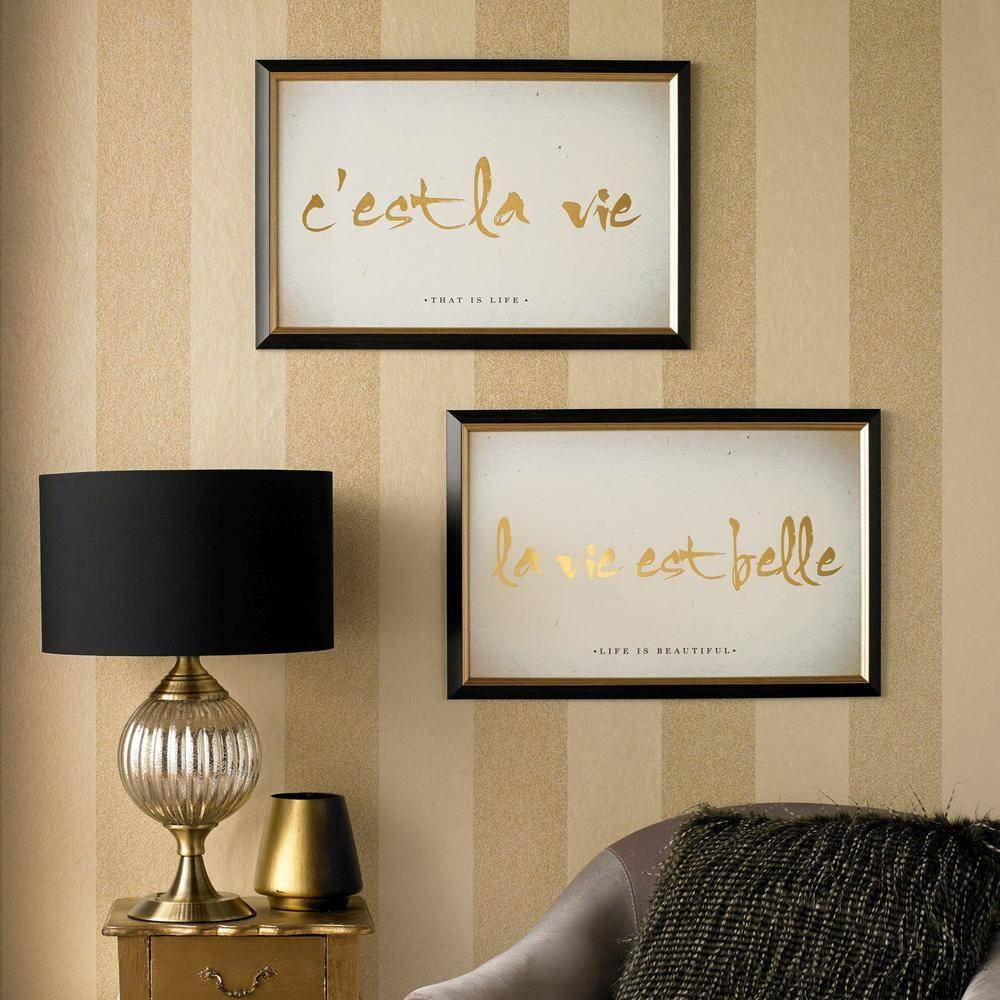 "Graham And Brown 24 In. X 16 In. ""c'est La Vie"" Printed Framed With Regard To Most Recent Graham & Brown Wall Art (Gallery 10 of 20)"