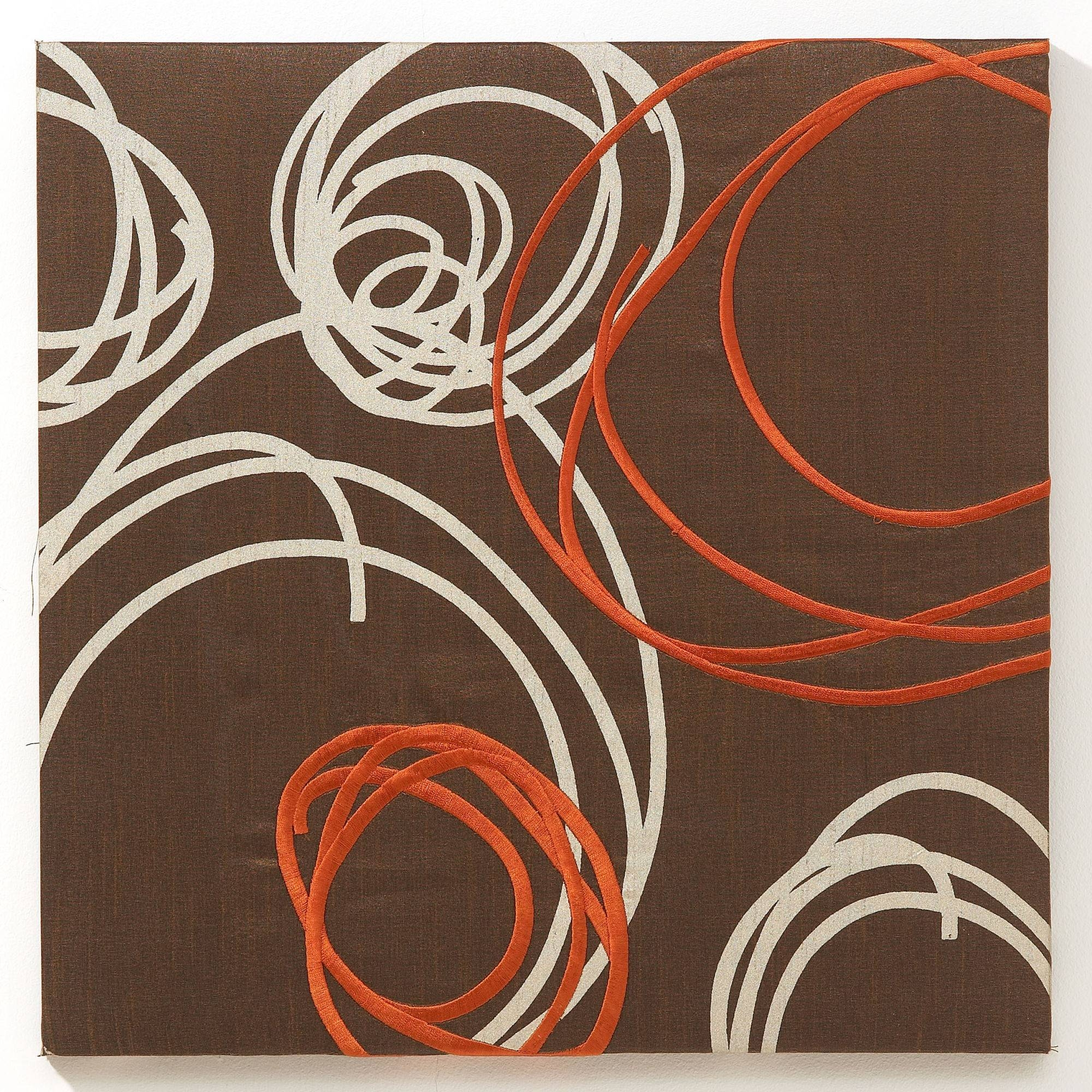 Graham & Brown Orange Silk Swirl Fabric Wall Art – 41711 Intended For Newest Graham & Brown Wall Art (View 6 of 20)
