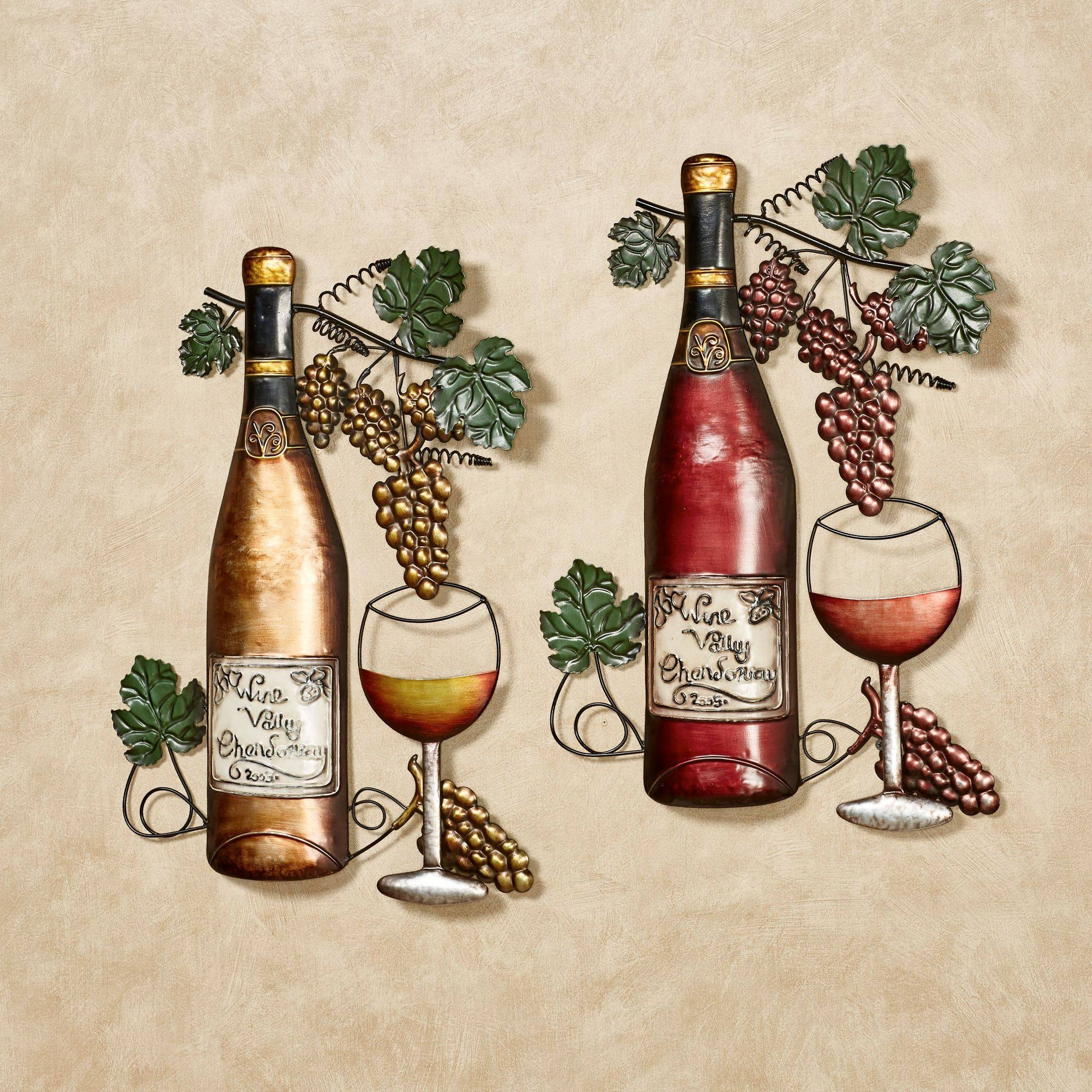 Grapes And Wine Art | Touch Of Class With Regard To Most Current Wine Metal Wall Art (View 5 of 20)