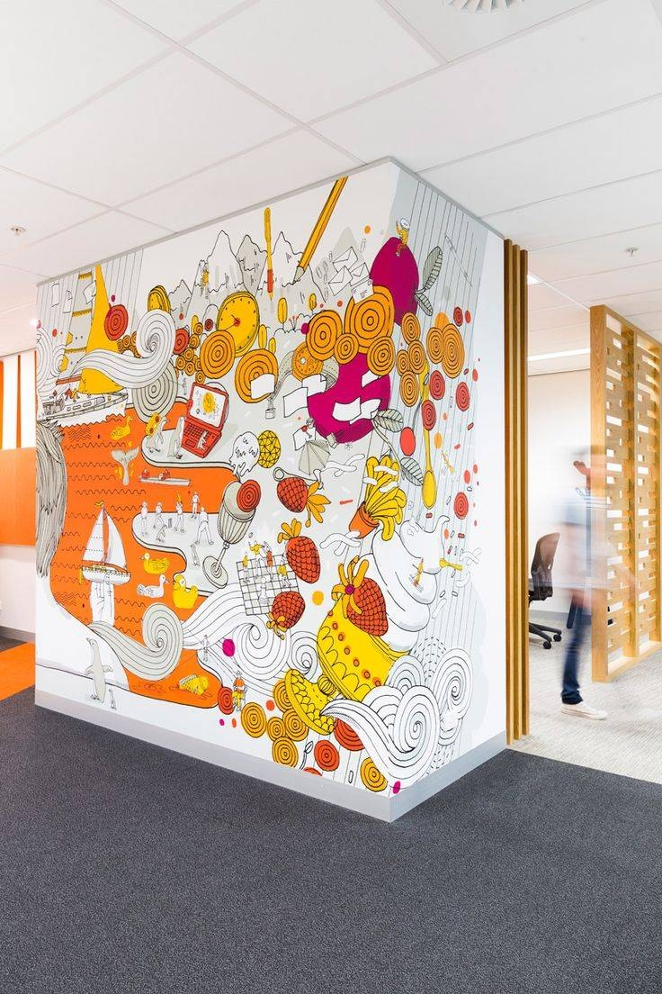 Graphic Design Wall Art Breathtaking 25 Best Office Wall Graphics Inside Most Recent Graphic Design Wall Art (View 14 of 20)