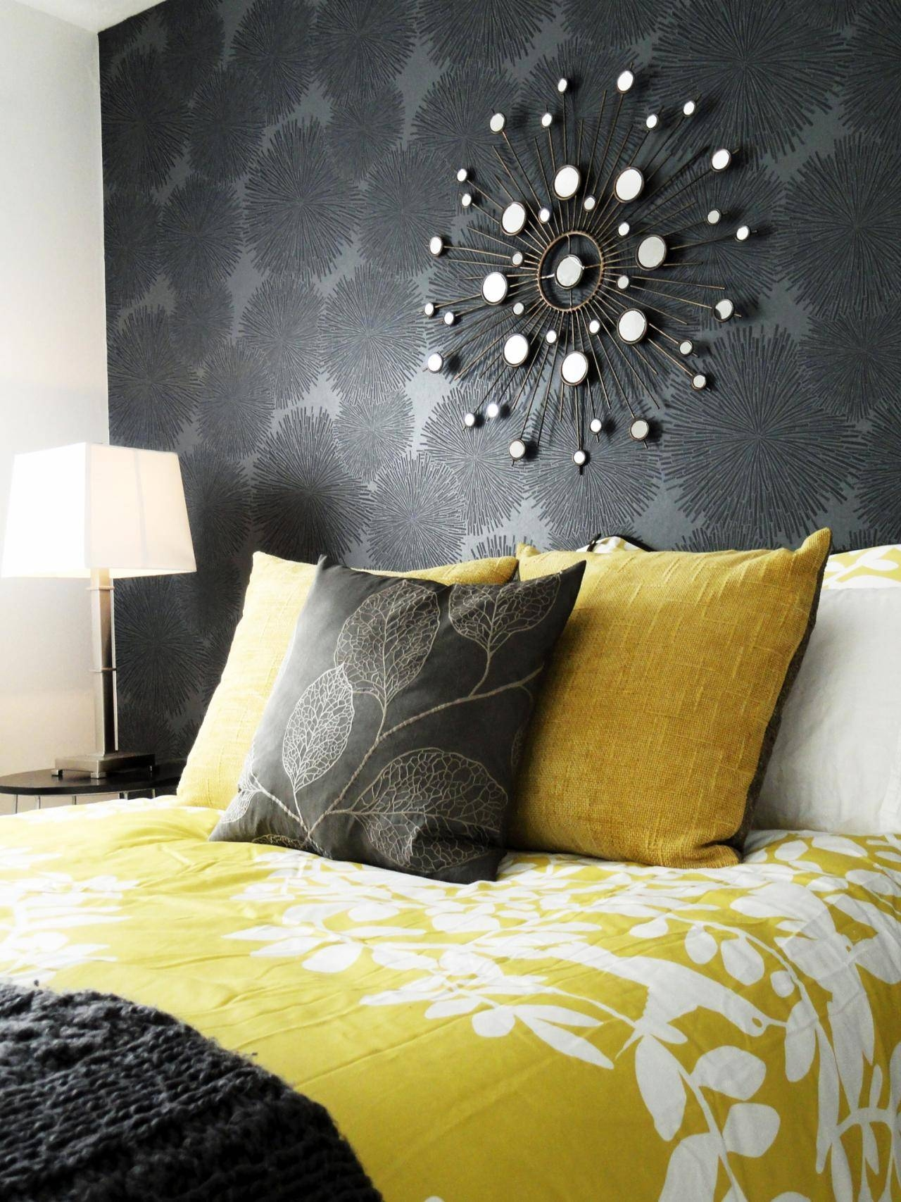 Gray And Yellow Bedroom With Calm Nuance – Traba Homes Regarding Most Up To Date Gray And Yellow Wall Art (View 7 of 20)