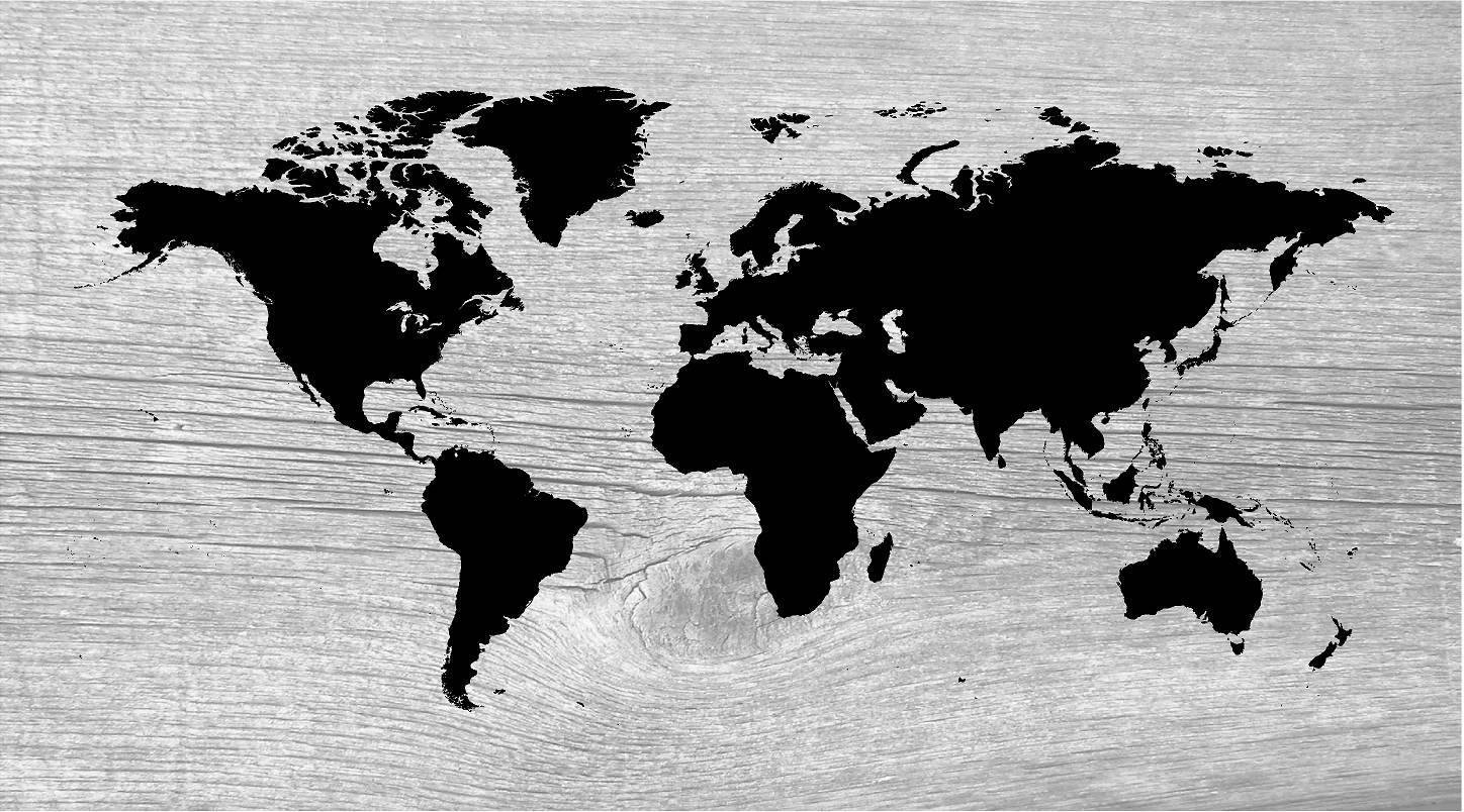 Gray Wood World Map Wall Art Canvas Wall Art, Wood Sign Nautical For Most Recently Released Nautical Canvas Wall Art (Gallery 19 of 20)