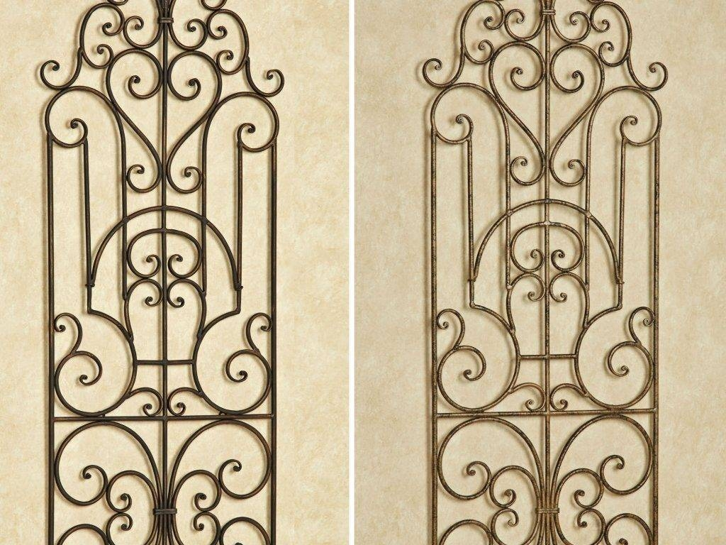 Great 24 Wrought Iron Garden Wall Art 44 Also Wrought Iron Garden Pertaining To 2017 Wrought Iron Garden Wall Art (Gallery 4 of 25)