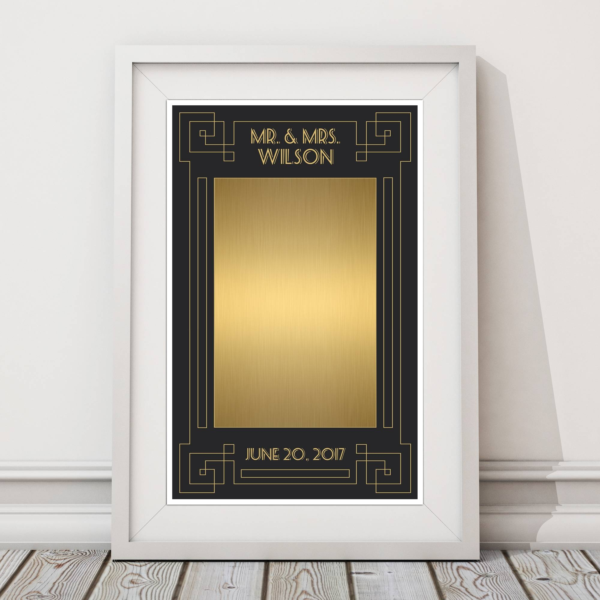Great Gatsby Wedding Guestbook Alternative Sign Poster – Paper Blast With Latest Great Gatsby Wall Art (View 9 of 20)