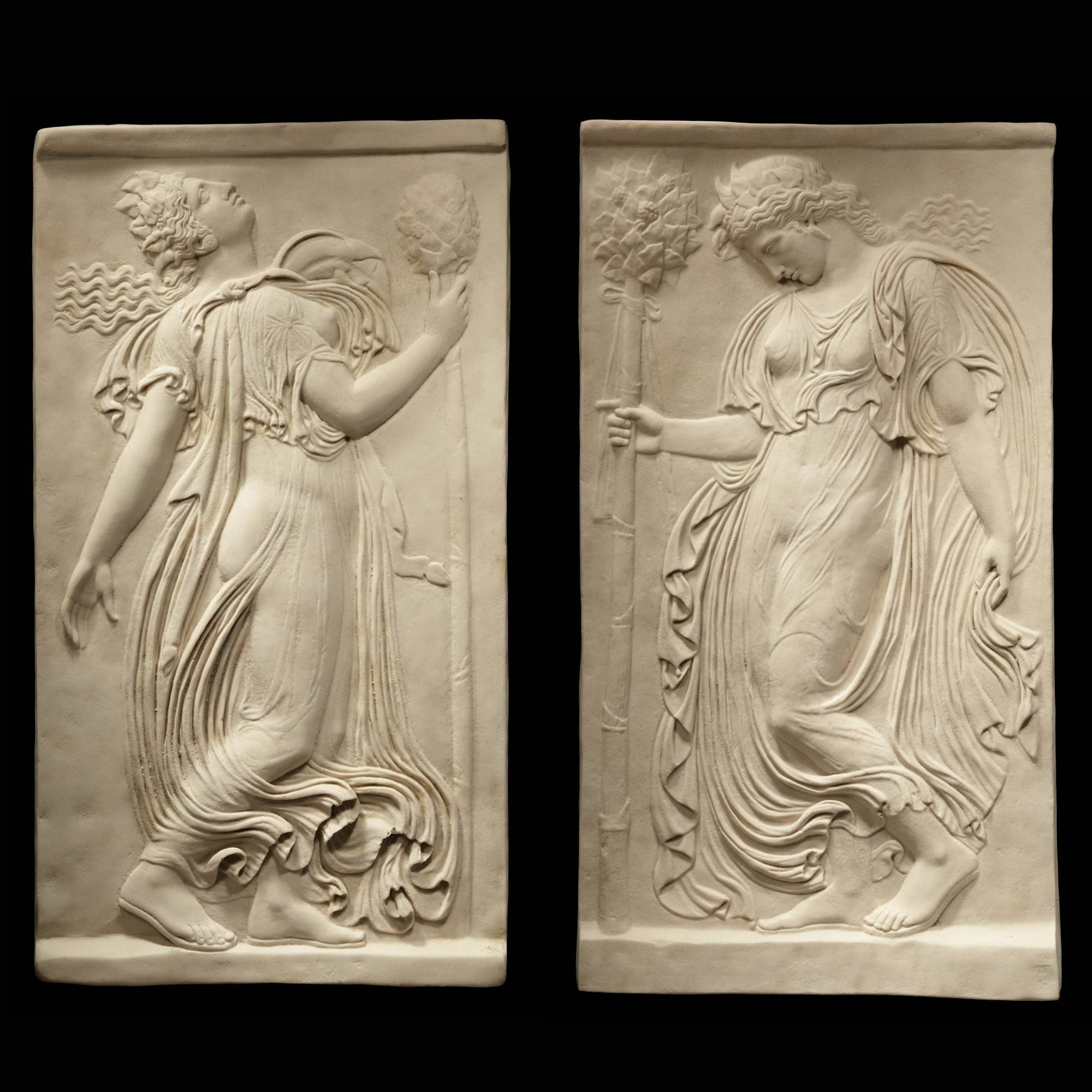 Greek Goddess Pair – Ancient Greek Marble Wall Relief Plaque | S&s Regarding Latest Ancient Greek Wall Art (View 12 of 25)