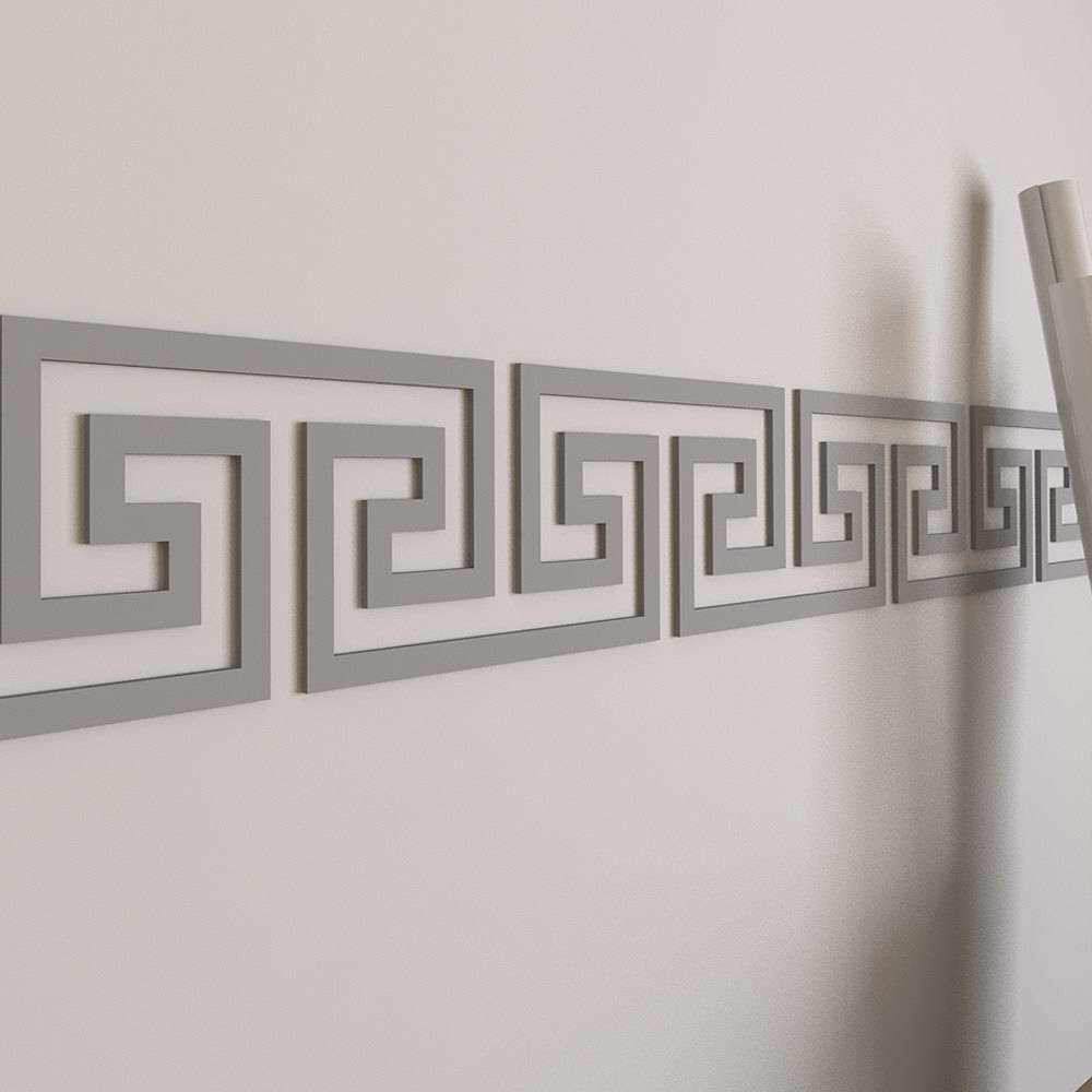 Greek Key Wall Border Wall Border Dorm Decor Greek Regarding 2018 Fretwork Wall Art (View 14 of 25)