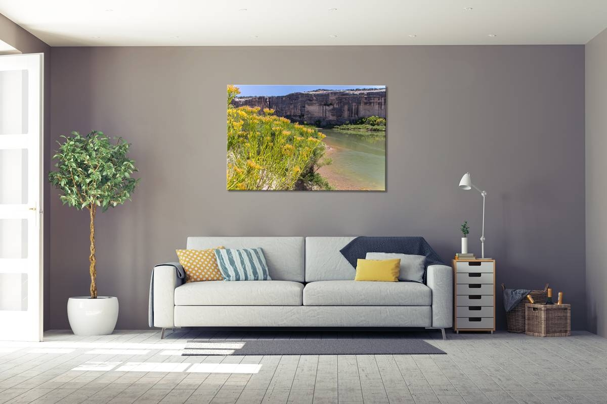 Green River Gold – Rogue Aurora Photography For Most Up To Date Gray And Yellow Wall Art (View 10 of 20)