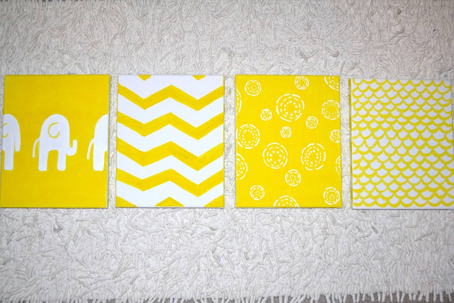 Grey And Yellow Wall Decor. Cool Yellow Grey Geometric Print Intended For Most Recent Yellow And Grey Wall Art (Gallery 20 of 25)