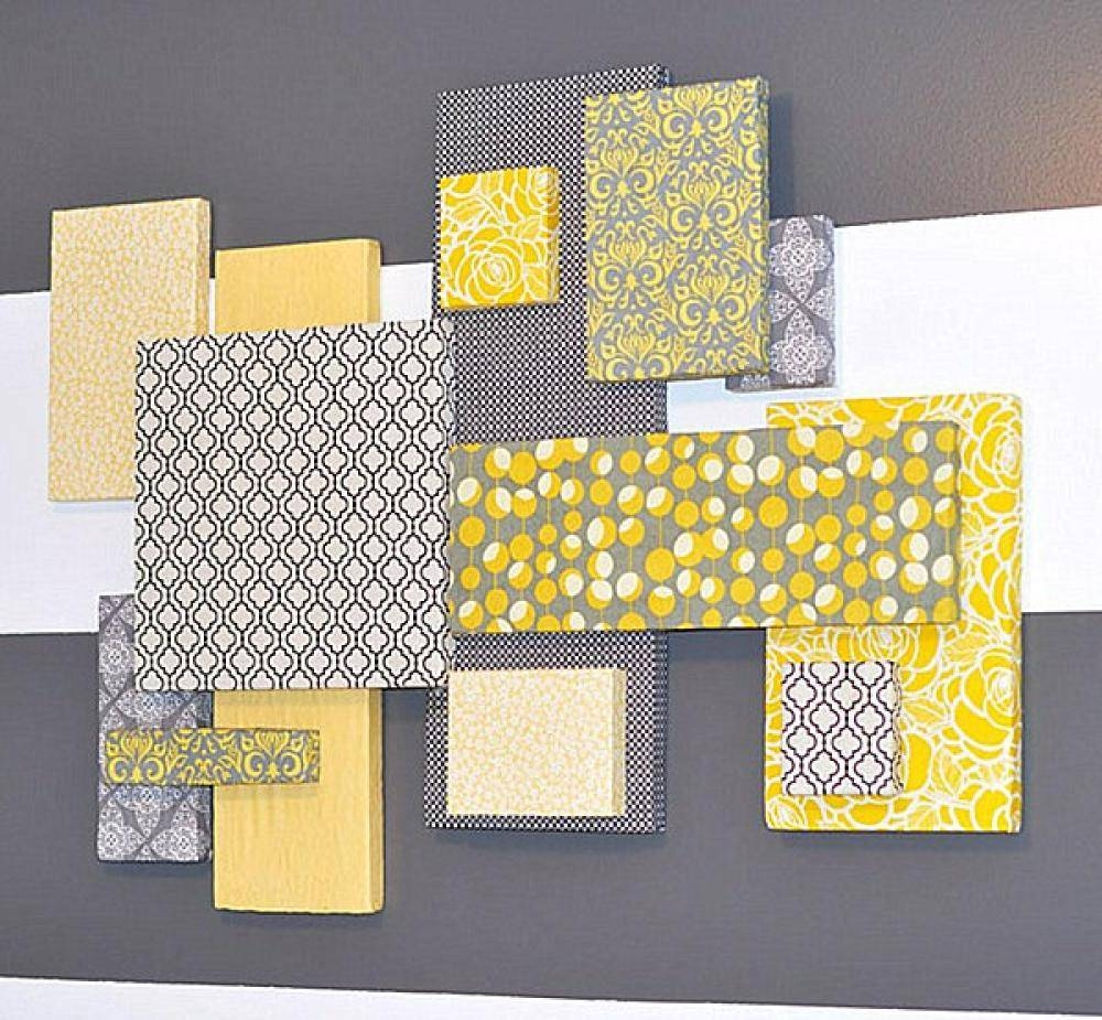 Grey And Yellow Wall Decor Simple As Wall Art Decor For Diy Wall Intended For Most Current Yellow And Grey Wall Art (View 8 of 25)